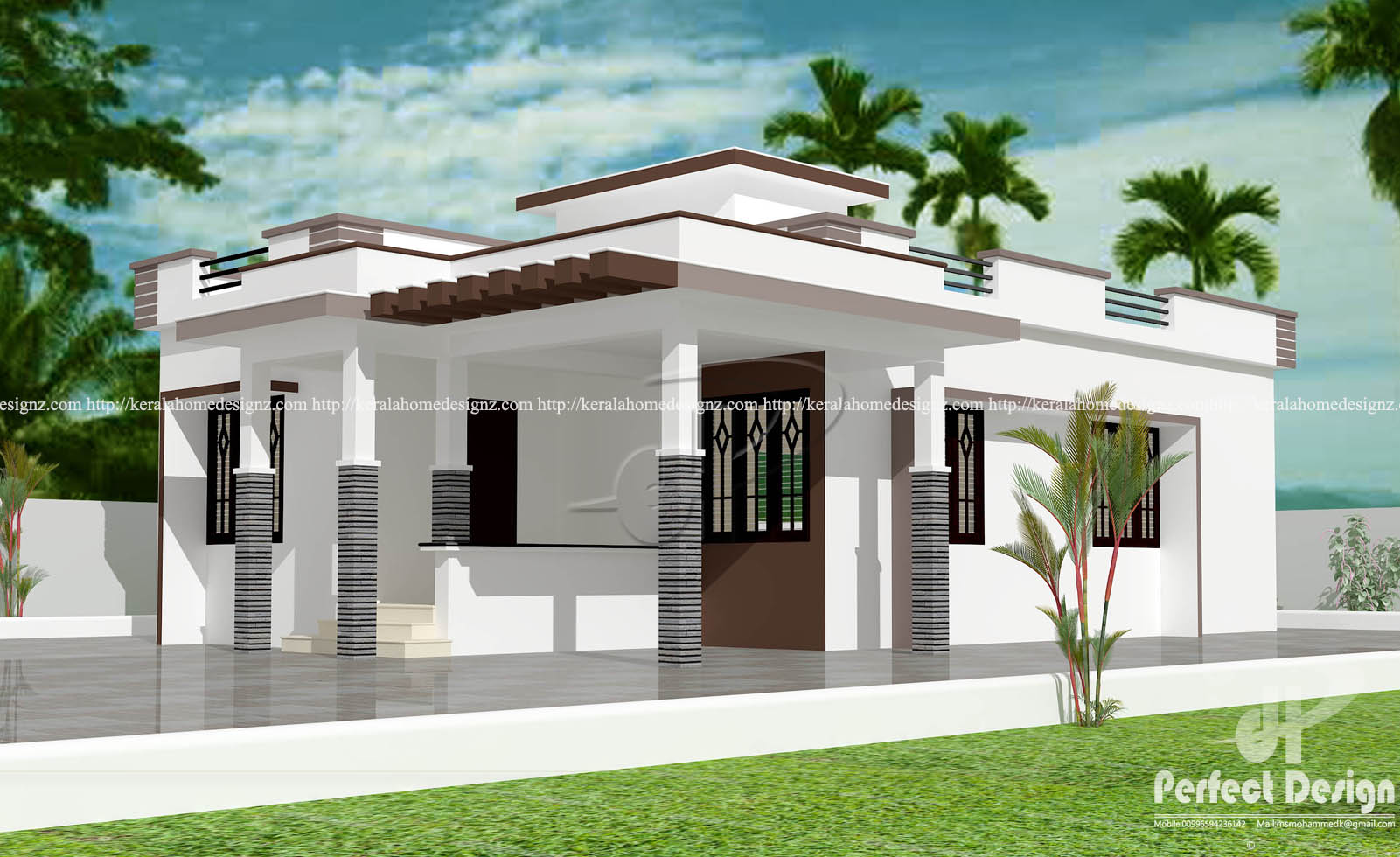 5 Lakh Home Design Part - 46: U20b912 Lakhs Cost Estimated Modern Home