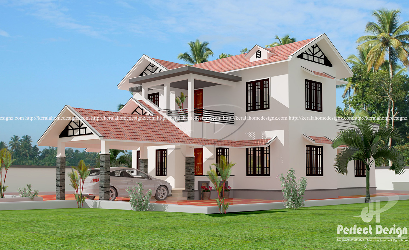 Traditional And Modern Home Kerala Home Design