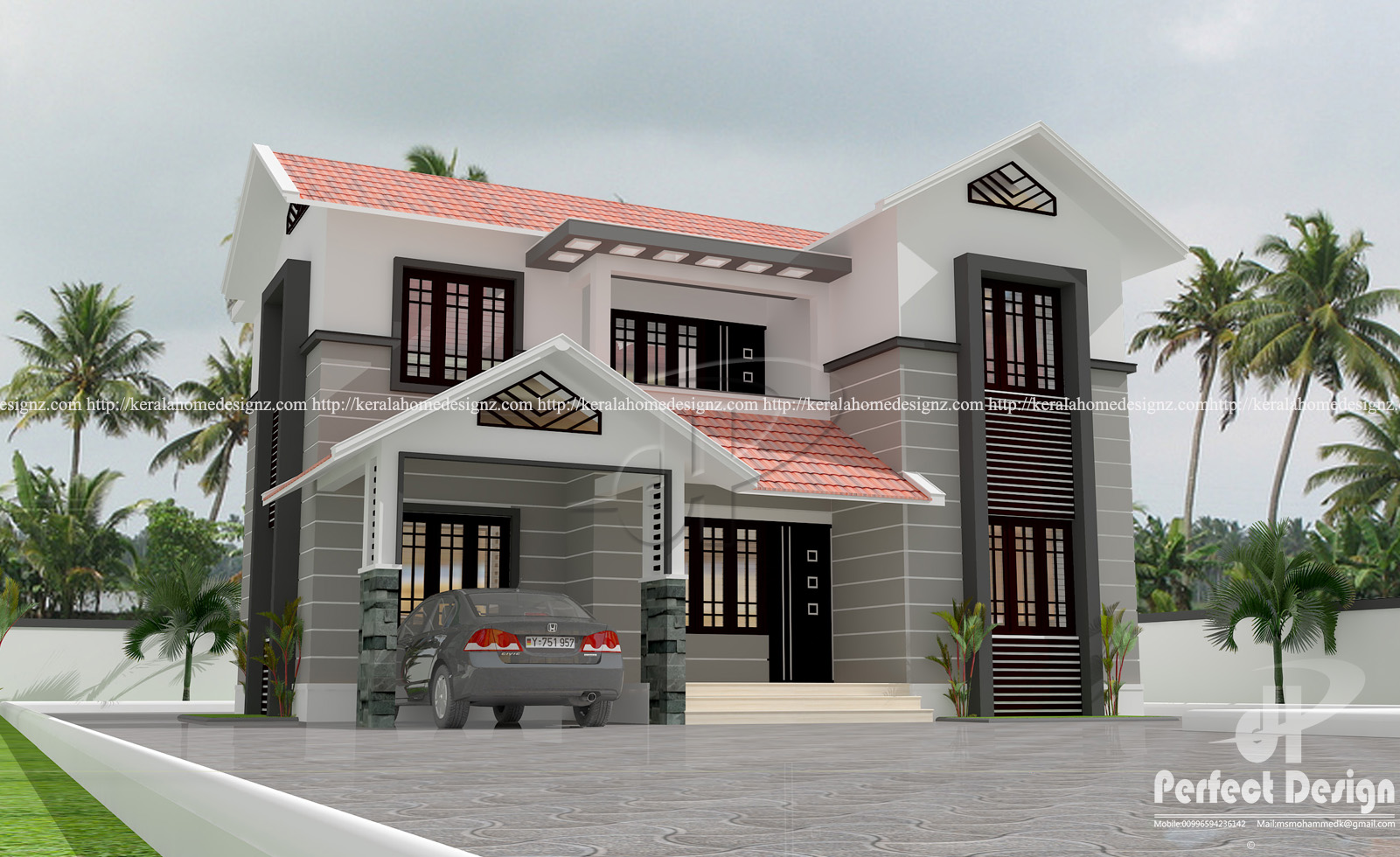 Ordinary 4 Bedroom Mixed Roof Home Part - 4: Mixed Roof 4 Bedroom Modern Residence