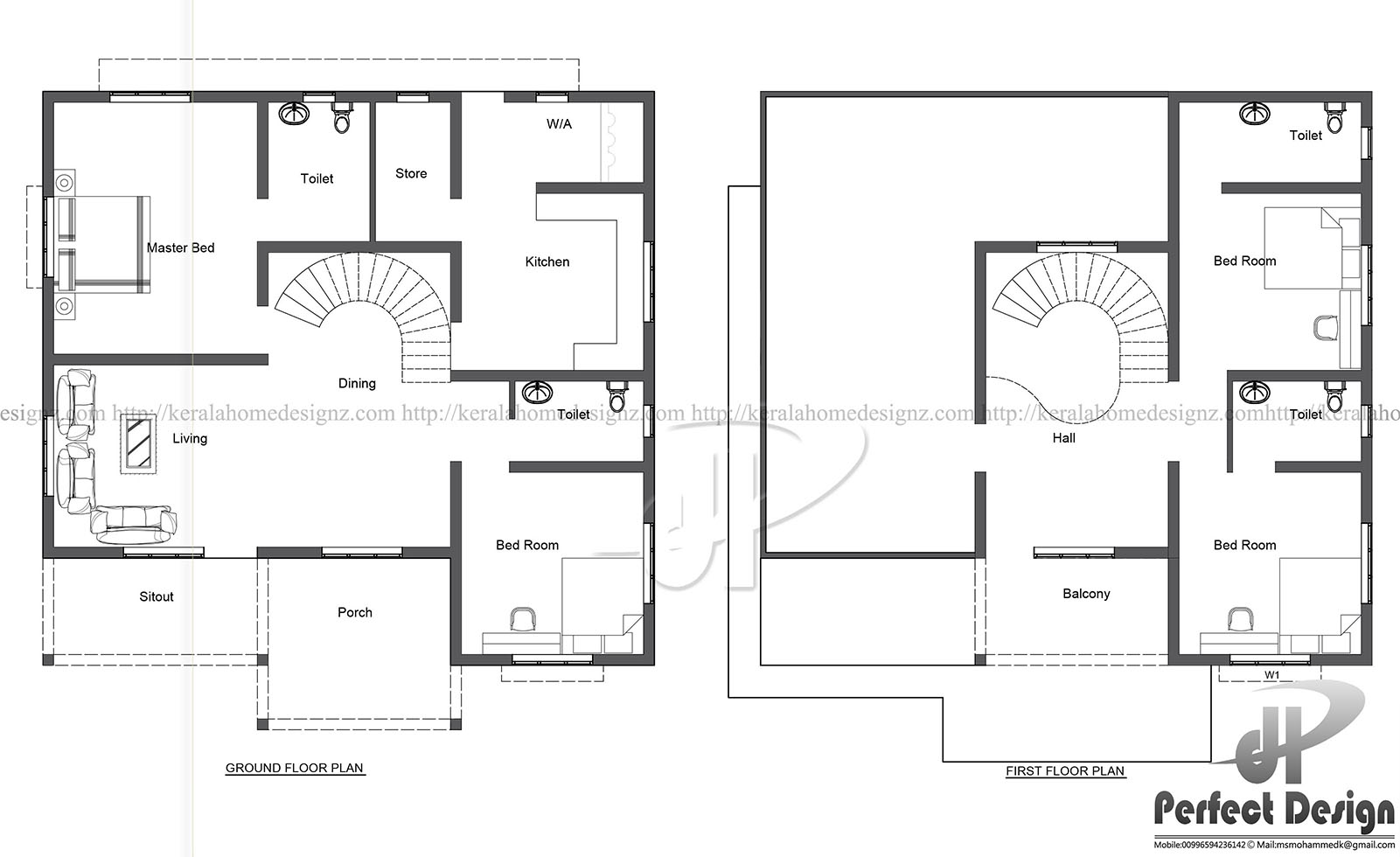 This plan is designed in a manner for the latest interior designs mixed roof ultra modern villa design layout