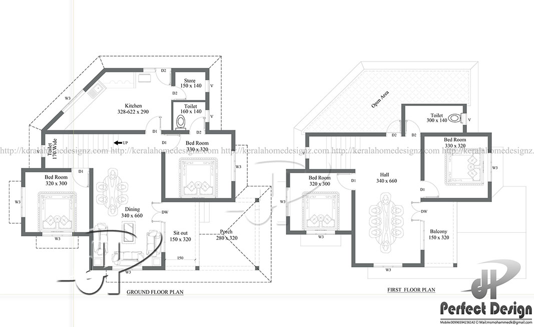 Double Floor Colonial Style Home Part - 37: The Living And Dining Room Are Very Well Designed. This Plan Is Designed In  A Manner For The Latest Interior Designs. Double Floor Colonial Style Home  ...