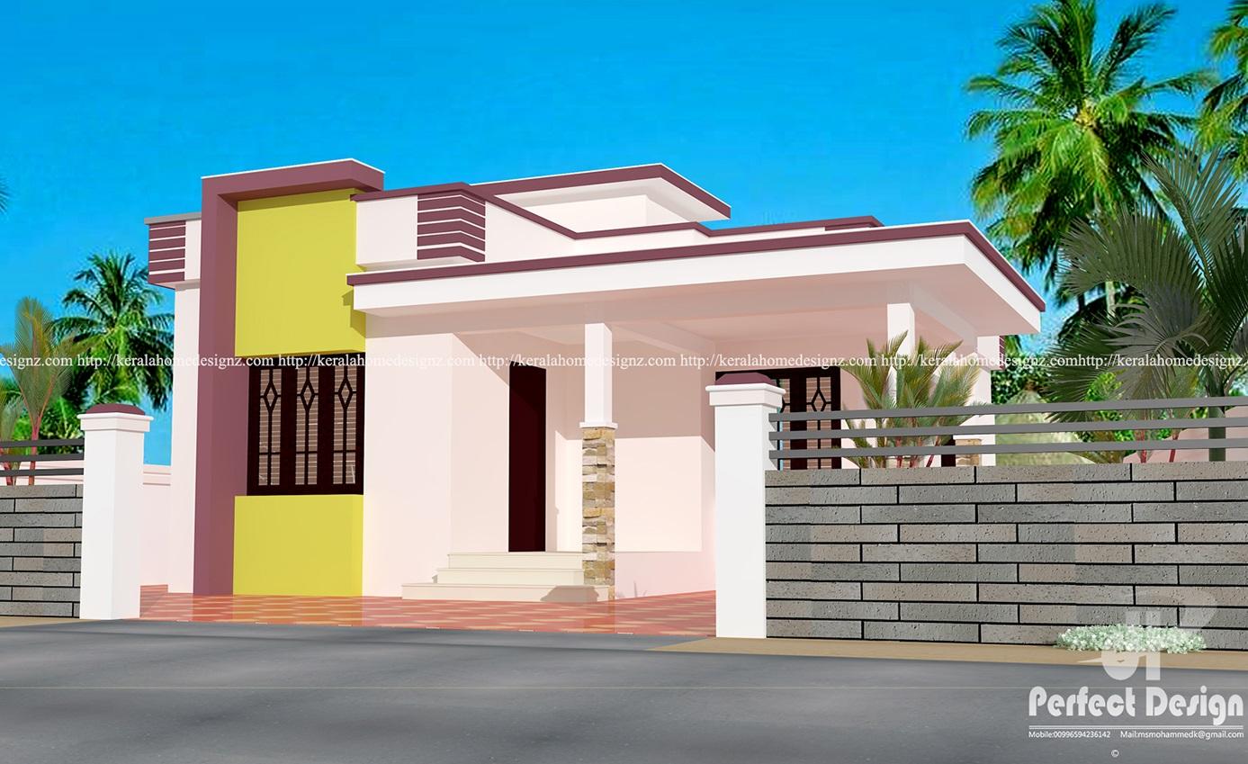 Small family home design kerala home design for Small family house design