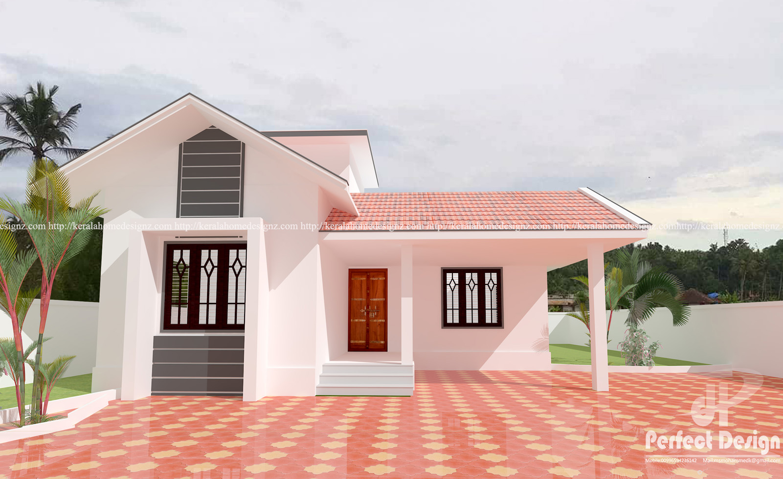 Modern Sloped Roof Home Design Kerala Home Design