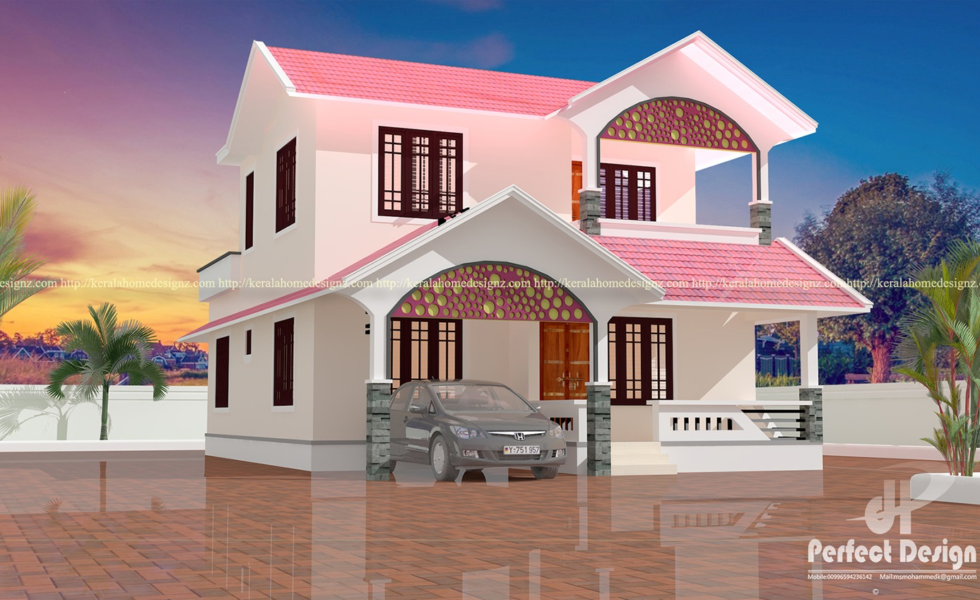 4 bedroom modern home design kerala home design for House model design photos