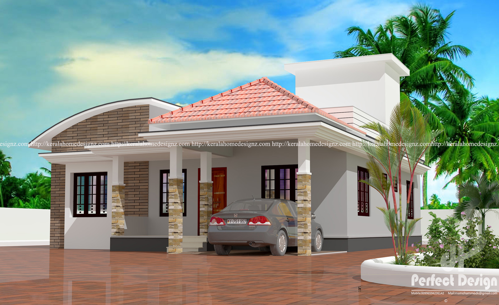 Modern home design with details kerala home design for Modern house details