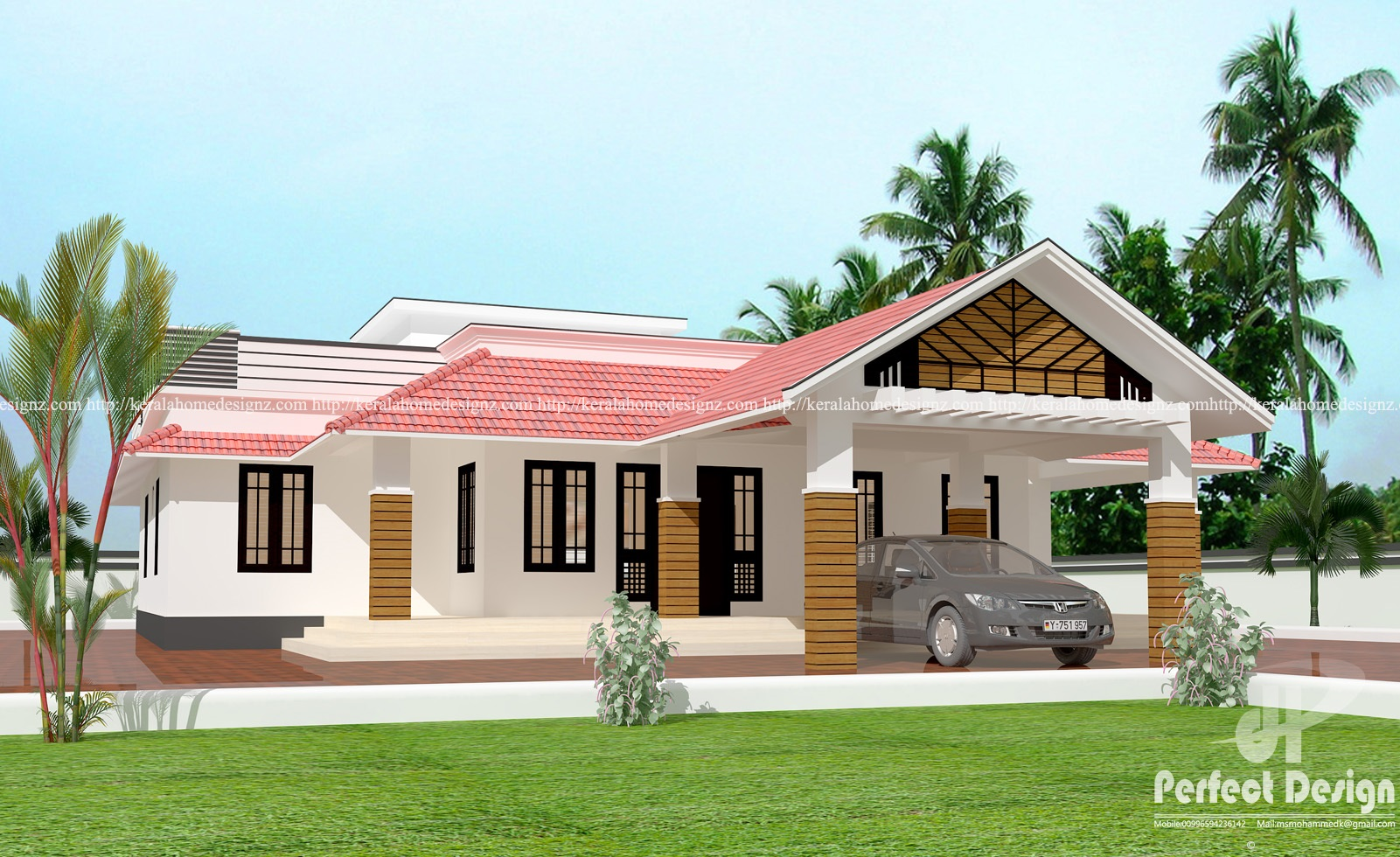 Amazing and cute home designs kerala home design for Home design find