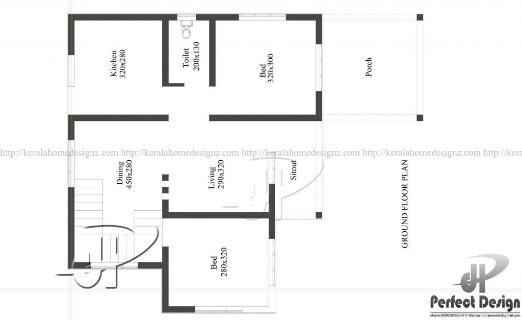 Single story home design layout