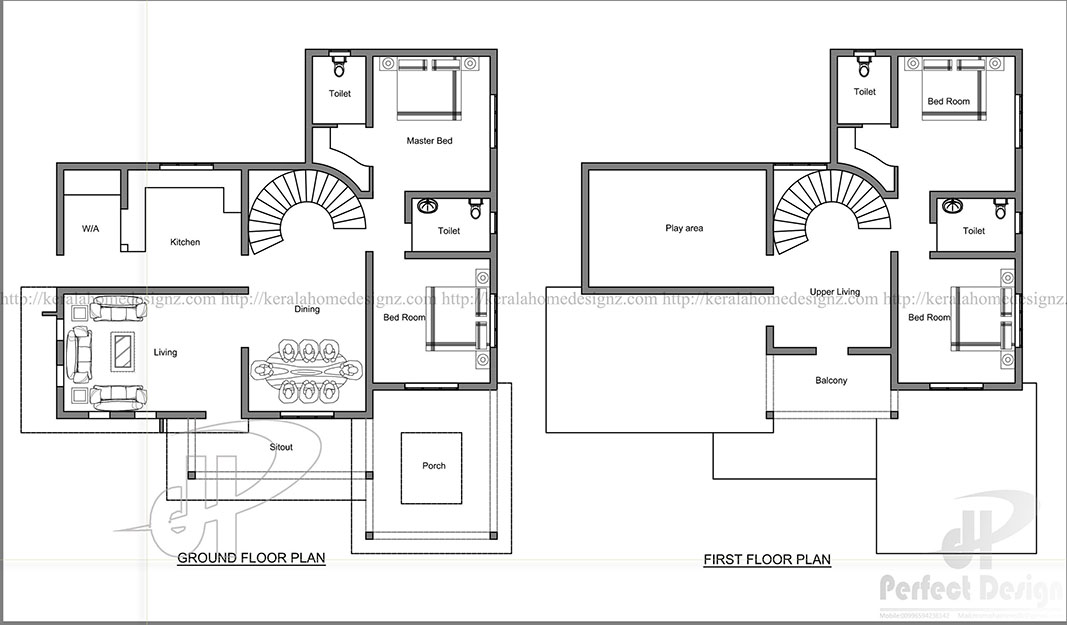 modern and stylish home design kerala home design. Black Bedroom Furniture Sets. Home Design Ideas