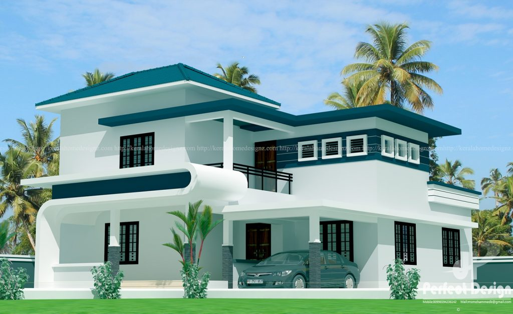 this modern double floor home designed to be built in 1851 square feets 173 square meters this house have porchsitout4 bedrooms2 attached bath1 common - Photos Home Design