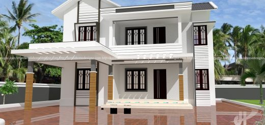 Merveilleux 1603 SQ.FT DOUBLE FLOOR HOME DESIGN