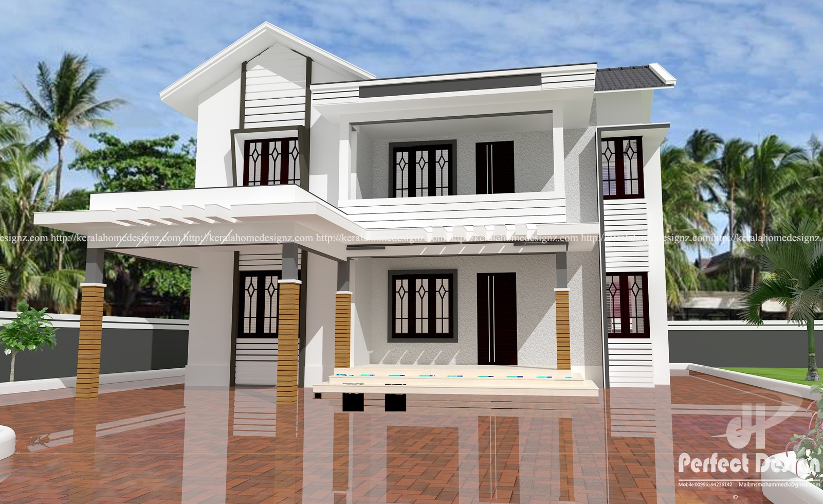 4 Bedroom Mixed Roof Home Part - 42: FT DOUBLE FLOOR HOME DESIGN