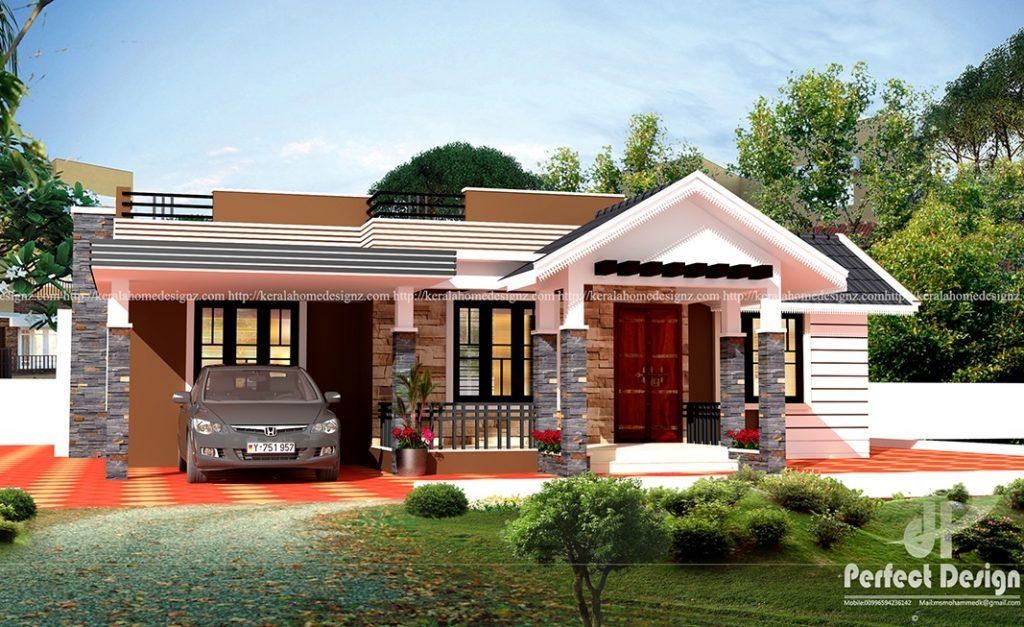 Cute contemporary home design kerala home design for Car porch design in kerala