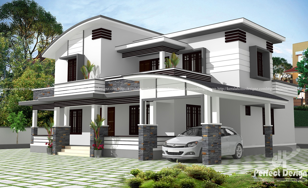 Unique And Beautiful Architectural House Design Kerala Home Design