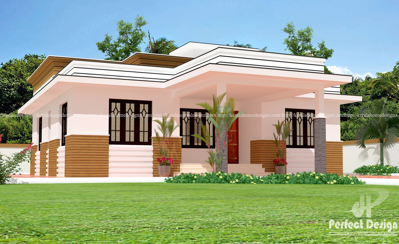 Single Floor Home At Chelembra Kerala Home Design