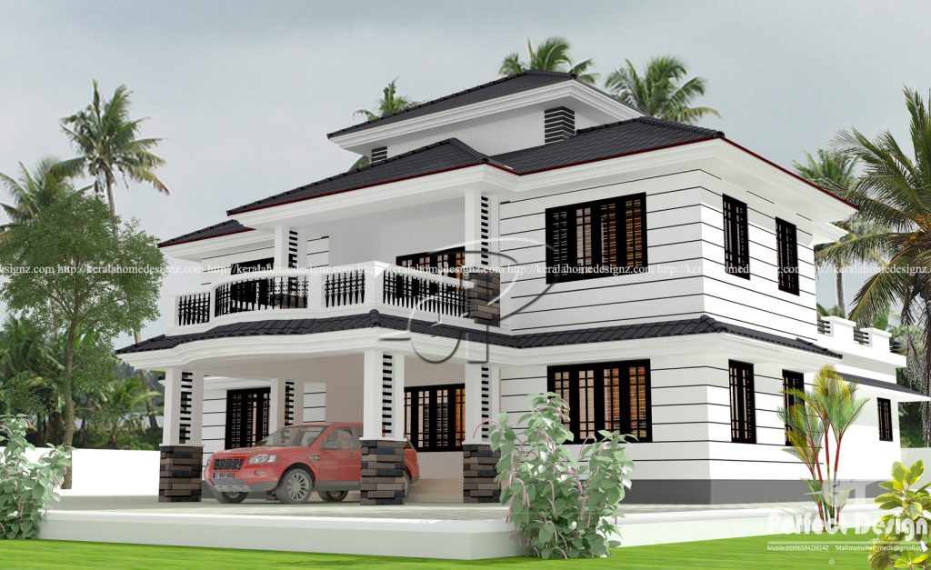 Kerala home design ton 39 s of amazing and cute home designs for Veedu plan kerala style