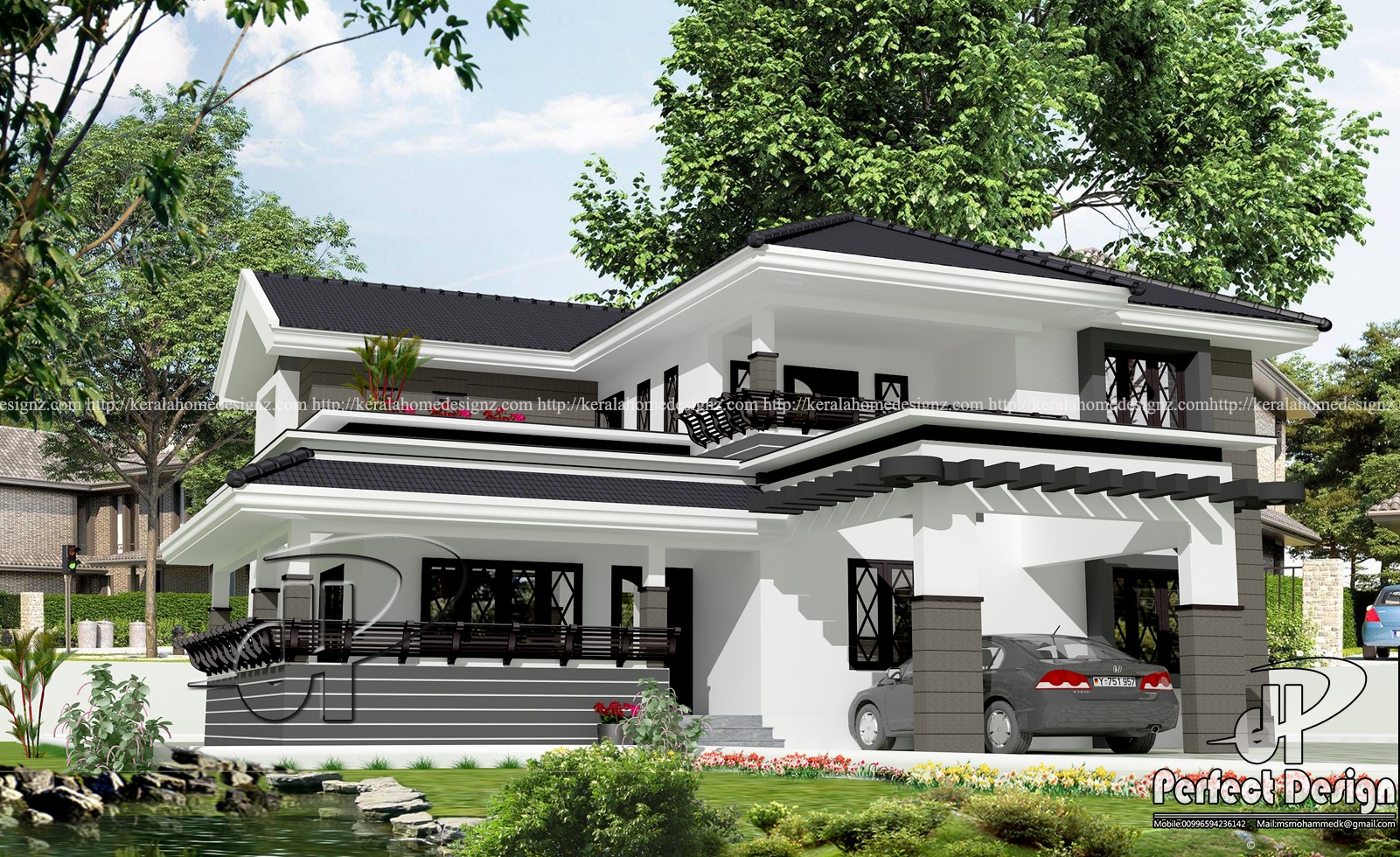 Four bedroom beautiful kerala home design