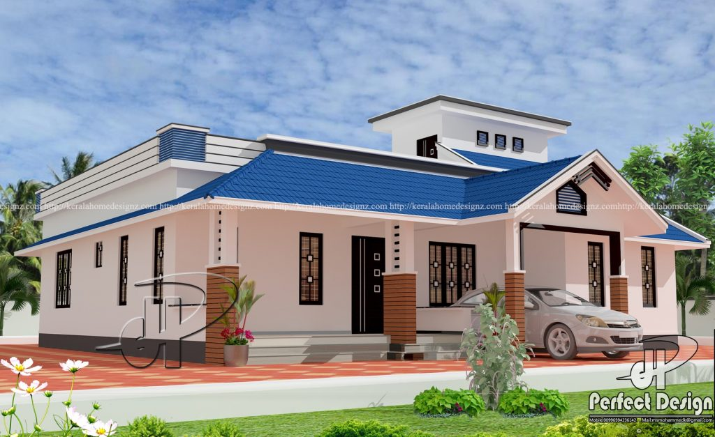 Three Bed Modern Home Design Kerala Home Design