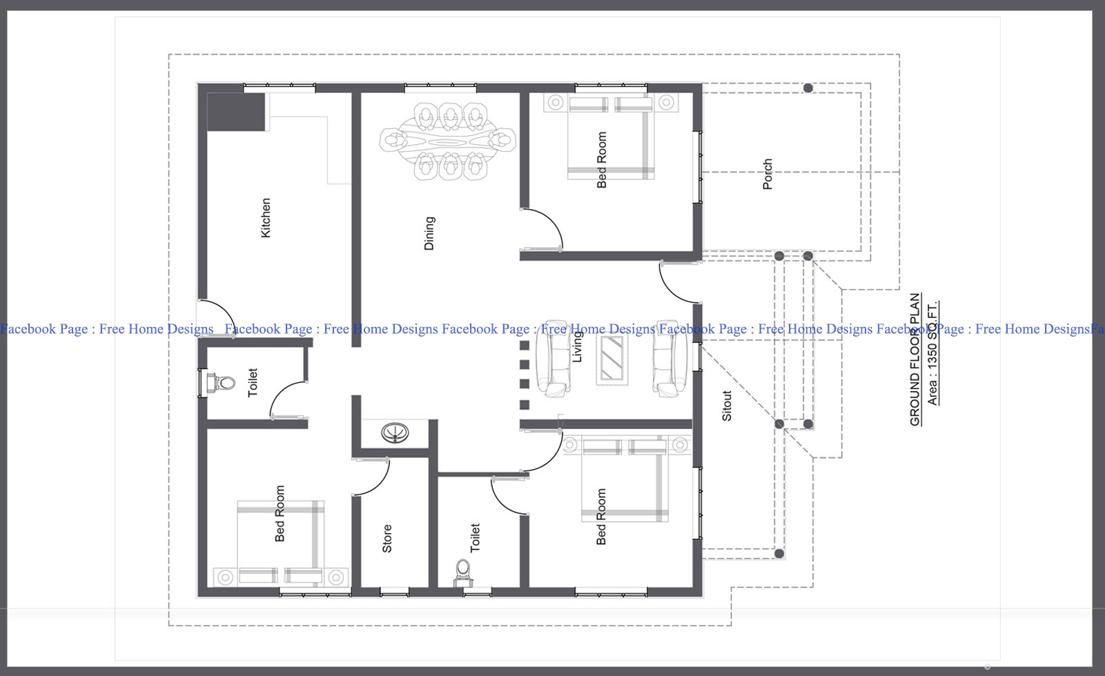 kerala home design with free floor plan