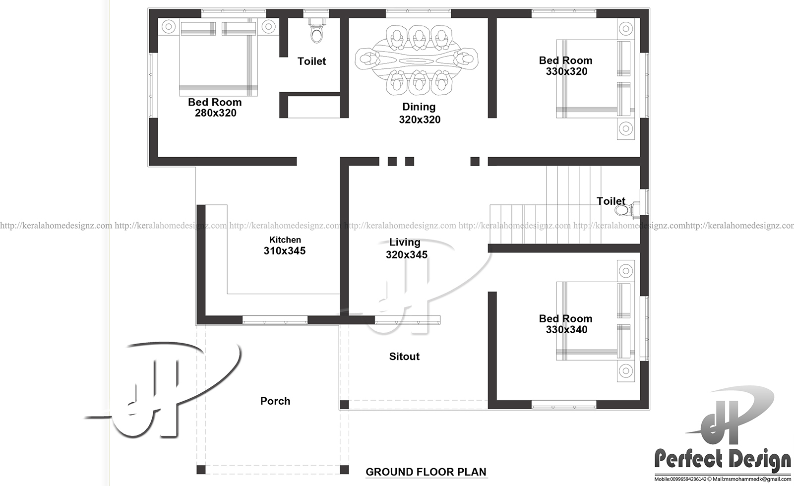 1000 Sq Ft Single Floor Home Kerala