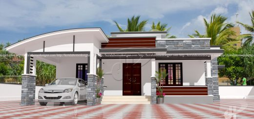 1108 Sq Ft Single Floor 3 Bedroom House