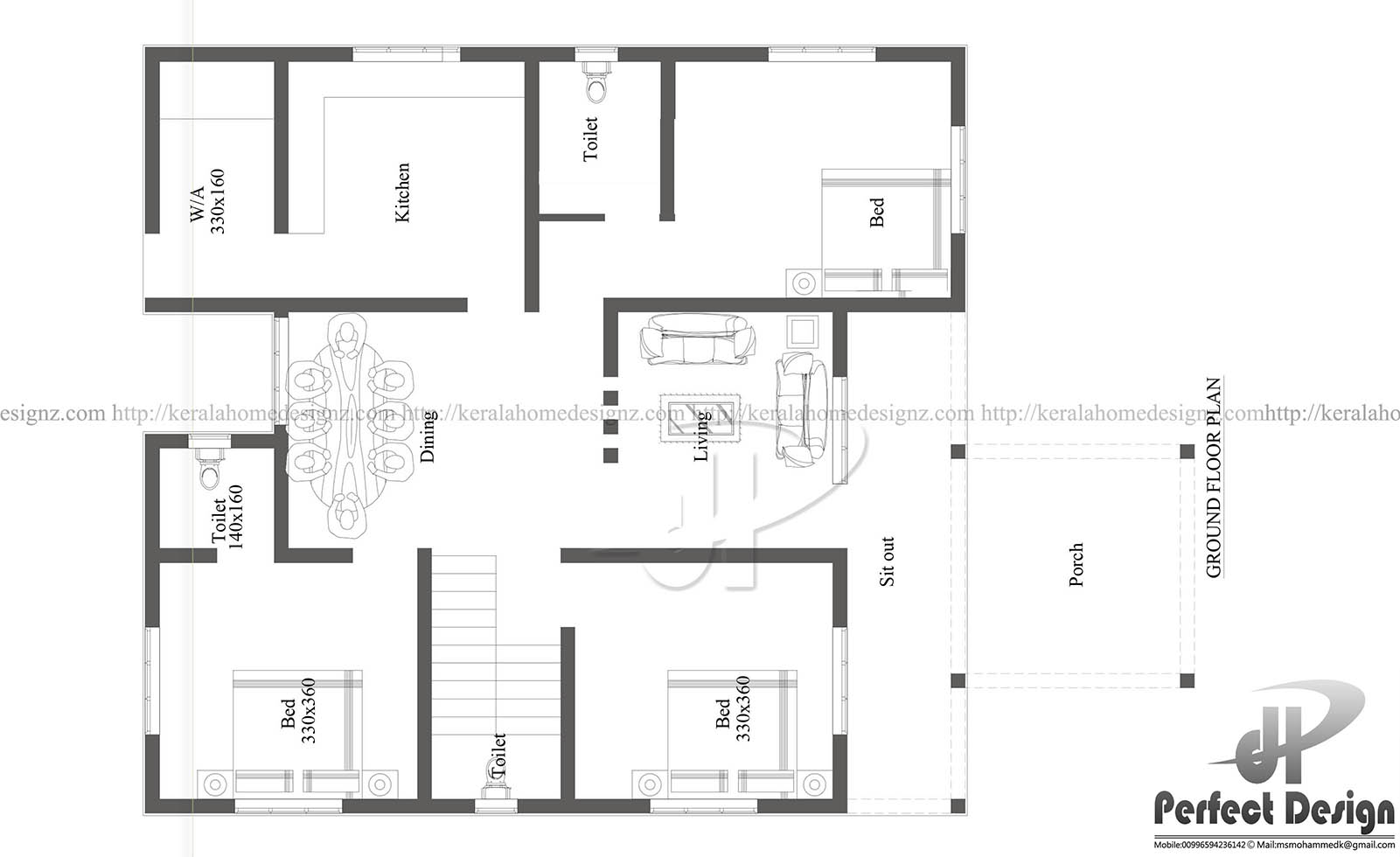 3 bedroom floor plan with dimensions in meters for 150 square meters house floor plan