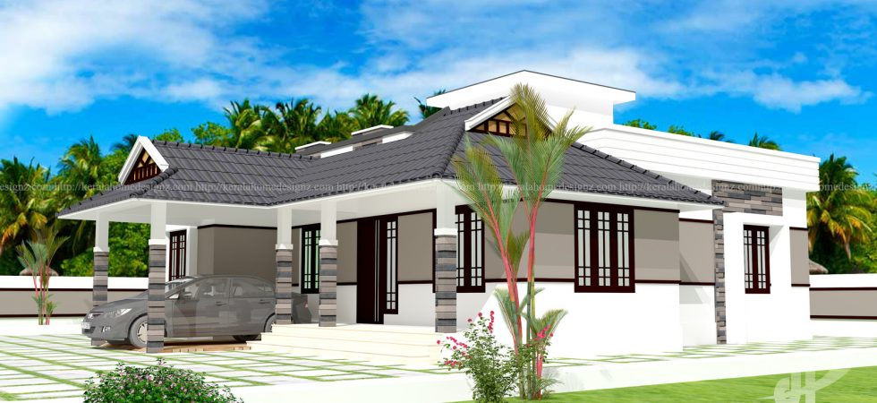 Kerala home design ton 39 s of amazing and cute home designs for Single floor house elevation models